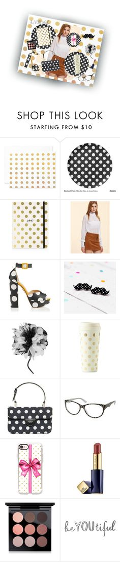 """Dotted"" by bodeadenisamaria ❤ liked on Polyvore featuring The Pink Orange, Kate Spade, Charlotte Olympia, Valentino Roma, Rochas, Moschino, Casetify, Estée Lauder and MAC Cosmetics"
