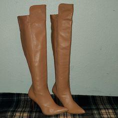ded7d5da0f Stuart Weitzman Shoes | Stuart Weitzman Leather Knee High Boots. Size 9 |  Color: Tan | Size: 9