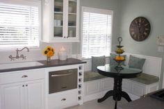 Great kitchen! Even a wine chiller & built in wine rack with a cozy corner eat in area.