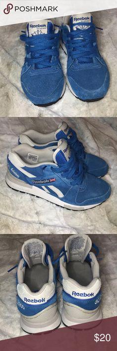 61b5f3e63fc6 REEBOK GL 6000 BLUE SUEDE REEBOK GL 6000. WORN BUT STILL IN GOOD CONDITION.  Reebok Shoes Sneakers