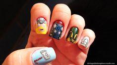 Thor Nails - Nail Art (Deviantart)