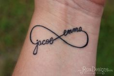 children's initials tattoos | Personalized Children's Name Infinity Tattoo by jRoxDesigns