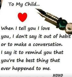 My Child...