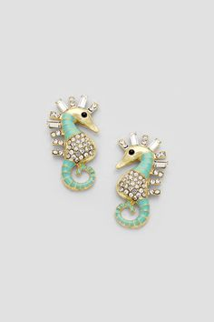 Mintylicious Seahorse Earrings