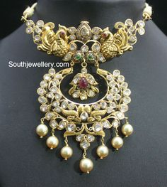 South Indian jewellery design-uncut pacchi choker