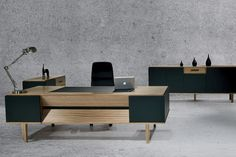 Contemporary Wood Office Furniture Executive Desk Contemporary In Wood…