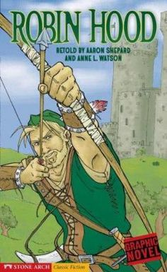 Taking from the rich and giving to the poor, Robin Hood and loyal followers fight for the oppressed against the evil Sheriff of Nottingham. Written in graphic-novel format.