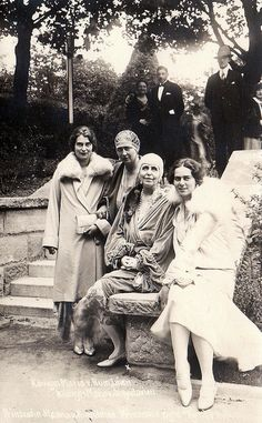 Queen Marie of Roumania with her daughter Ileana and Grand Duchess Kira of russia Romanian Royal Family, Greek Royal Family, Queen Victoria Family, Princess Victoria, Princess Alexandra, Princess Beatrice, History Of Romania, Royal Families Of Europe, Princess Alice