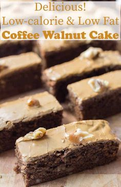 Coffee walnut cake is for the lovers of coffee, walnuts and cake. It's a low fat coffee cake and it's low in calories too. Perfect for cake lovers who are calorie and fat conscious! Coffee Icing, Coffee Cake, Healthy Cake Recipes, Baking Recipes, Healthy Meals, Delicious Desserts, Low Fat Cake, Fat Coffee, Coffee And Walnut Cake