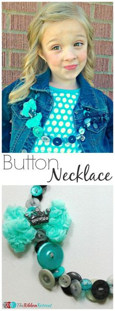 Button Necklace - The Ribbon Retreat Blog