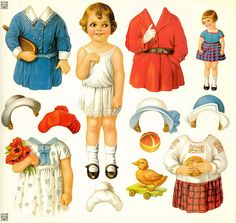 I found these today ..... Vintage Illustration Doll Cuts O… | Flickr