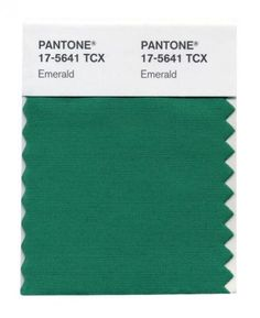 Emerald green, the 2013 Color of the Year, is popping up in everything from fashion runways to fabric stores.