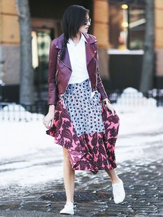 Street style New York Fashion Week FW15: See the best street style looks from fashion week this season! via @WhoWhatWear