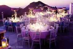 Elite Events Athens E's Wedding / Lavender, Lilac, Island, Santorini, Greece - Photo Gallery at Catch My Party August Wedding Flowers, Church Wedding Flowers, Lilac Wedding, Sunset Wedding, Wedding Colors, Dream Wedding, Wedding Ideas, Wedding Stuff, Santorini Wedding