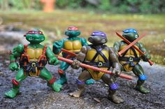 TMNT - Kris had a massive collection of TMNT items! Let's see, it was: Leonardo, Donatello, Michelangelo and Raphael!