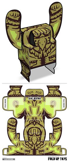 Downloadable paper art toy design by Fold Up Toys - Rorschach #005