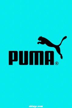 ed3652b157d Puma name and symbol on aqua background