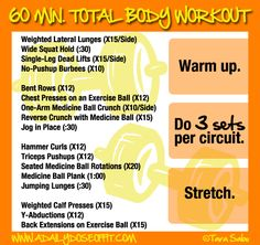 1hour total body workout  body workouts workout and bodies