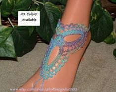 Find Barefoot Sandals Wedding Jewelry Ankle Bracelets for Womens Boho Crochet Items Gifts Ideas Wedding Toe Ring Foot Chain Anklets Wedding Toes, Barefoot Sandals Wedding, Beach Wedding Shoes, Crochet Barefoot Sandals, Wedding Jewelry, Ankle Jewelry, Ankle Bracelets, Sandals Outfit, Shoes Sandals