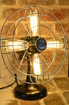 RePurposed 4 Bulb Electric Fan LightGreat Up by RootSellerSisters, $150.00