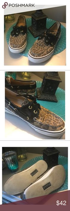 Leopard prints Sperry The classic Sperry in leopard print.   So versatile.  GUC Sperry Top-Sider Shoes Flats & Loafers