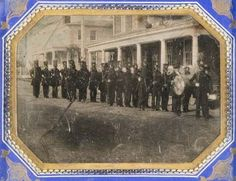 What is thought to be the oldest known war photograph: New Hampshire volunteers depart for the Mexican War in 1846.