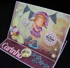 Márcia - cartões: Easel card de aniversário