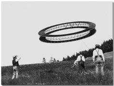 One of the many kites developed by Alexander Graham Bell in an attempt to build kites large enough for people to ride in. The idea was also to make them so a motor could be installed, thus creating the first manned aircraft, but the end result was just a bunch of admittedly cool-looking kites.
