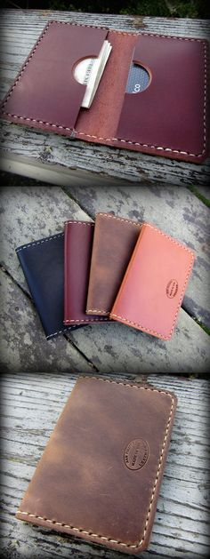 Men's Double Card Leather Wallet by San Filippo Leather. Great front pocket wallet for everyday carry.
