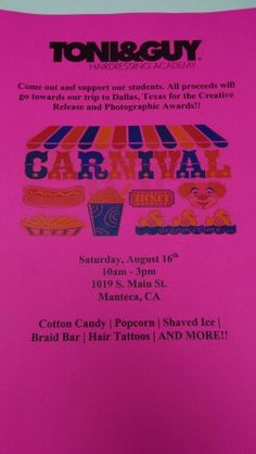 Come out and support the students!!! Car Wash and Carnival this Saturday!!