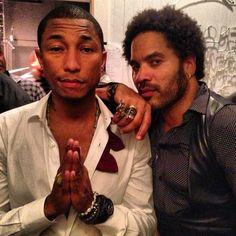 Pharell Williams and the great seductor Lenny Kravitz ♥️♥️💎 Lenny Kravitz, I Love Music, Pharrell Williams, Creative Portraits, Music Icon, Celebs, Celebrities, Music Artists, Black Men