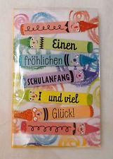 Glückwunschkarte zum Schulanfang Karte Glückwünsche Einschulung