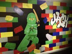 Lego Wall Mural Mural Ideas, Wall Ideas, Room Ideas, Kids Wall Murals, Murals For Kids, Kids Rooms, Kids Bedroom, Lego Room Decor, Lego Station