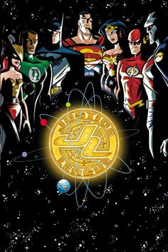 Justice League- Hawkgirl, Green Lantern, Batman, Superman, Wonder Woman, Flash, Martian Manhunter