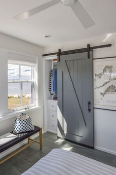 Hutker Architects | sliding barn door used for closet