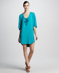 Tie-Front Tunic by Three Dots at Neiman Marcus.