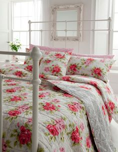 Cath Kidson and white bed frames