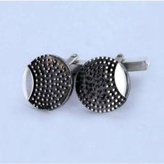 Men silver Minimaliste cufflinks - Coté Mecs