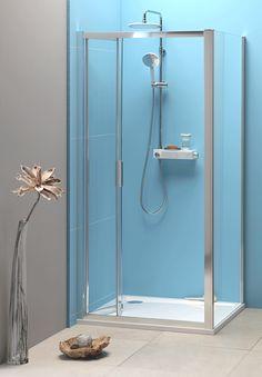EASY LINE sprchové dveře skládací 900mm, čiré sklo : SAPHO E-shop Program, Bathroom Lighting, Mirror, Easy, Furniture, Shopping, Home Decor, Bathroom Light Fittings, Bathroom Vanity Lighting