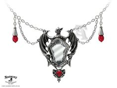 DRAKUL'S Vampire Mirror Necklace Alchemy GOTHIC Vampyric Pendant DARK Fantasy #ALCHEMYGOTHIC #Necklace