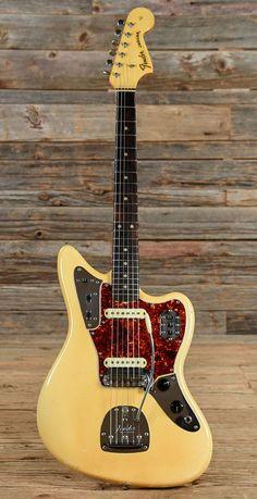 1964 Olympic White Fender Jaguar (With images) Fender Stratocaster, Gretsch, Fender Guitar Amps, Fender Electric Guitar, Vintage Electric Guitars, Guitar Pickups, Acoustic Guitar, Fender Jaguar, Gibson Les Paul