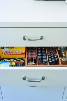 Amanda Pays, Corbin Bernsen, Laundry room battery drawer   Remodelista   ahhhAHHHH