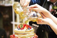 ウェディングケーキの新演出〔カラードリップケーキ〕のやり方まとめ   marry[マリー]