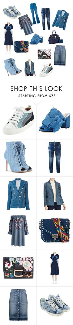 """""""I love denim!!!"""" by mpisani ❤ liked on Polyvore featuring Laurence Dacade, N°21, Gianvito Rossi, Dsquared2, Balmain, Polo Ralph Lauren, Chicwish, Valentino, Roger Vivier and Neil Barrett"""