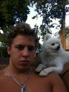 Columbus Blue Jackets: Cam Atkinson and Bo Cam Atkinson, Hot Hockey Players, Hockey Baby, Columbus Blue Jackets, Fun Games, Nhl, Cute Dogs, Your Dog, Husky