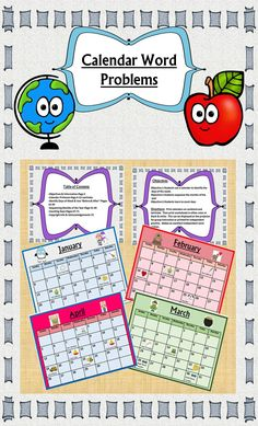 Calendars & Problems for Early Learners Help Build Calendar Skills