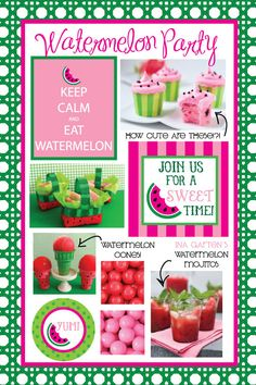 Who wouldn't love a watermelon party?