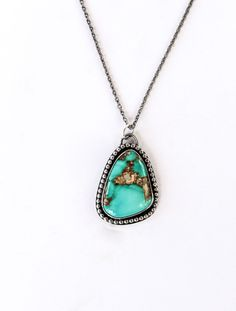 925 Sterling Silver Pendant Gift Pendant Everyday wear Pendant Citrine Pendant Blue Copper Turquoise Pendant Turquoise Pendant