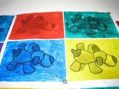 Les doudous à la manière d'Andy Warhol