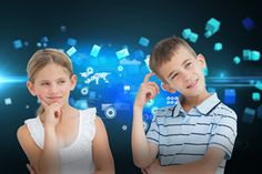 Picture of Pensive brother and sister posing together against futuristic screen with quaders stock photo, images and stock photography. Bring Your Own Device, Sister Poses, Media Literacy, 21st Century Skills, Social Media Trends, Futuristic, Brother, Sisters, Stock Photos